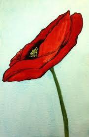 tall red poppy by sarah walton