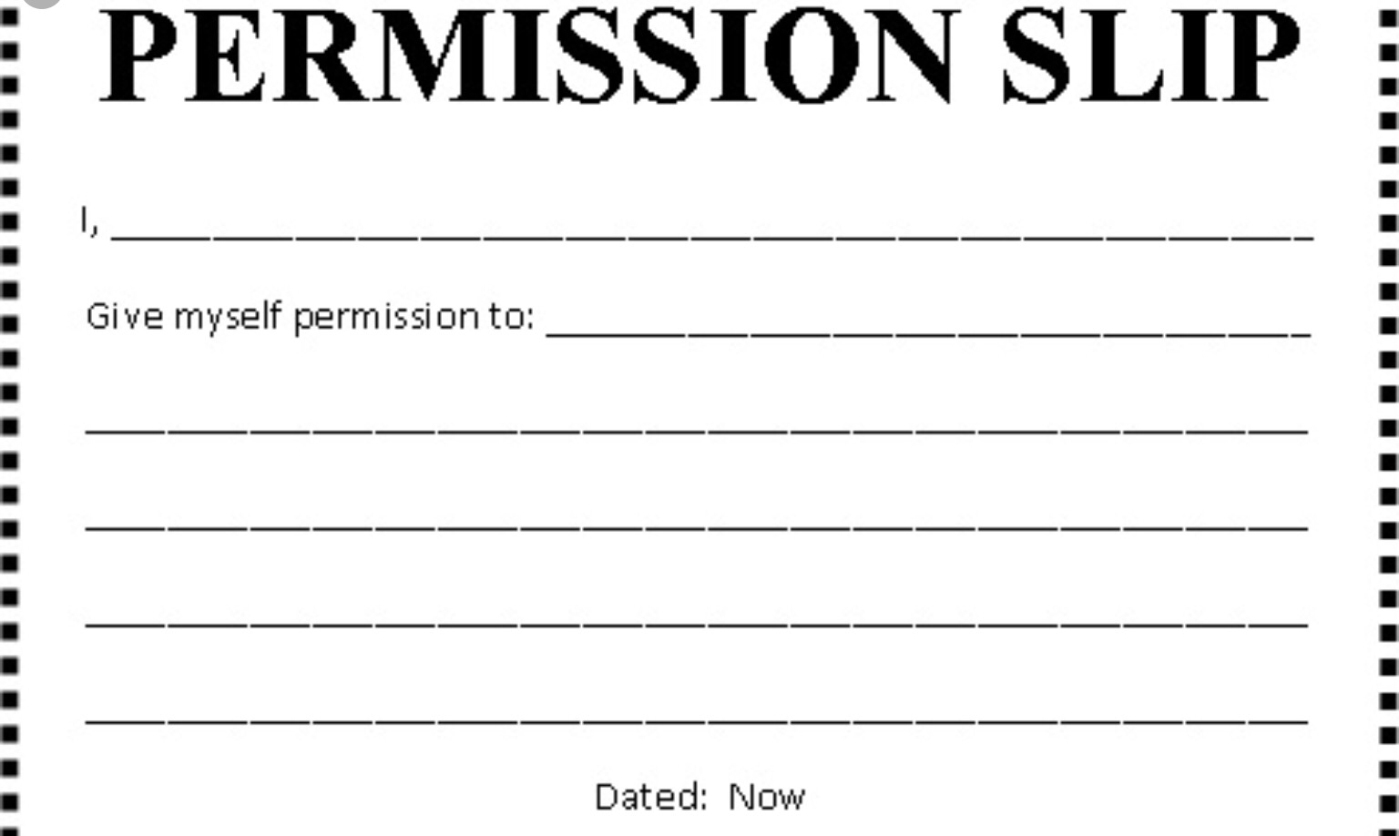 premission slip
